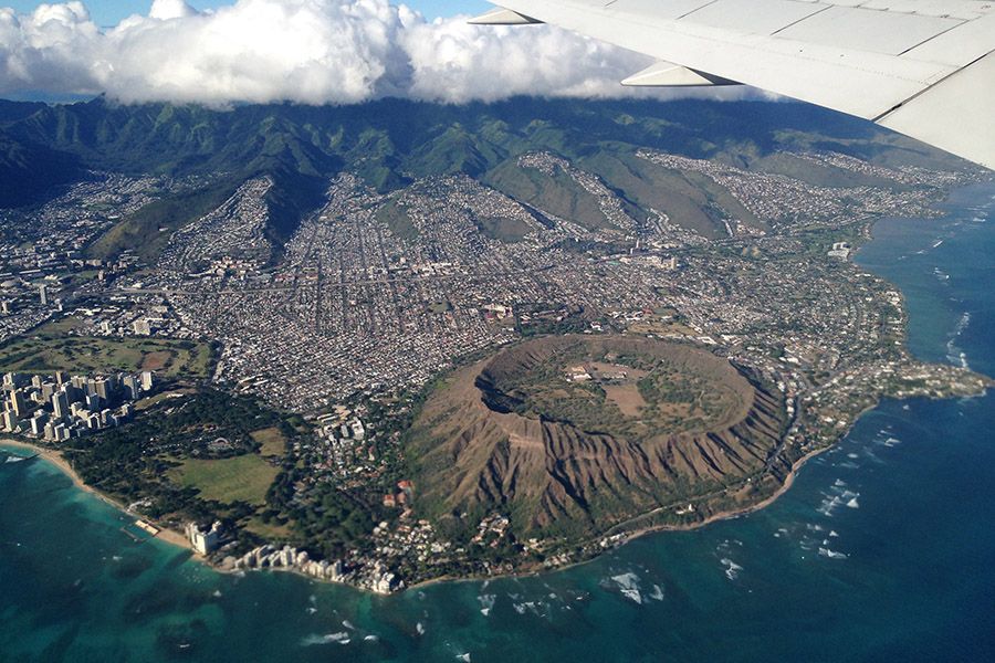 Honolulu Airplane View