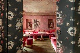 Hotel Metropole lounge area, Venice Italy.