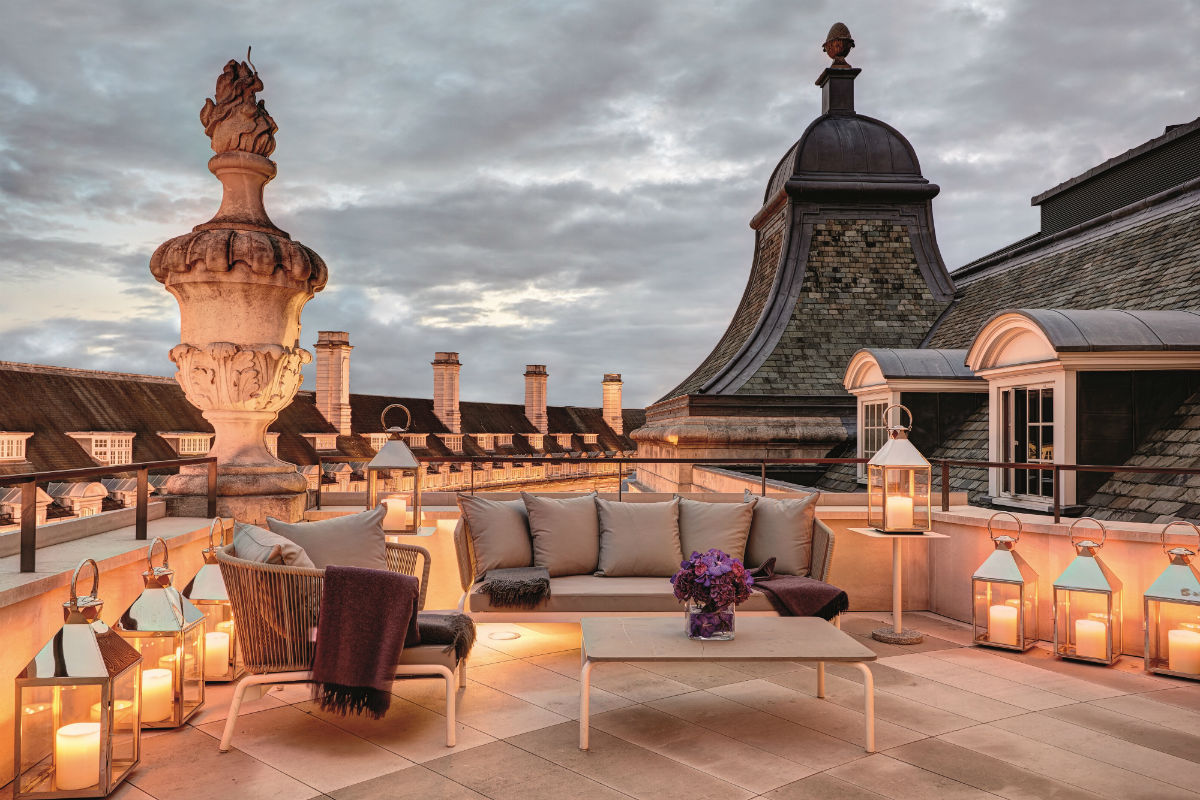 Dome penthouse at Hotel Café Royal.