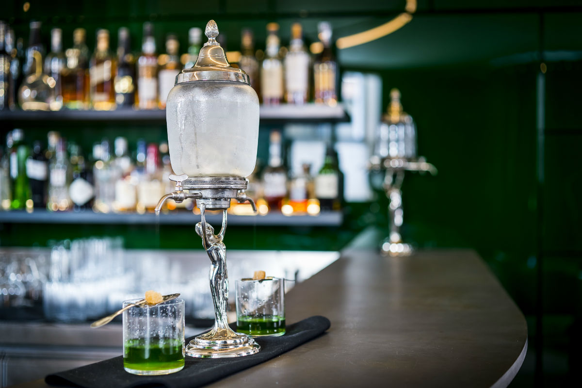 Absinthe at Green Bar, Hotel Café Royal.
