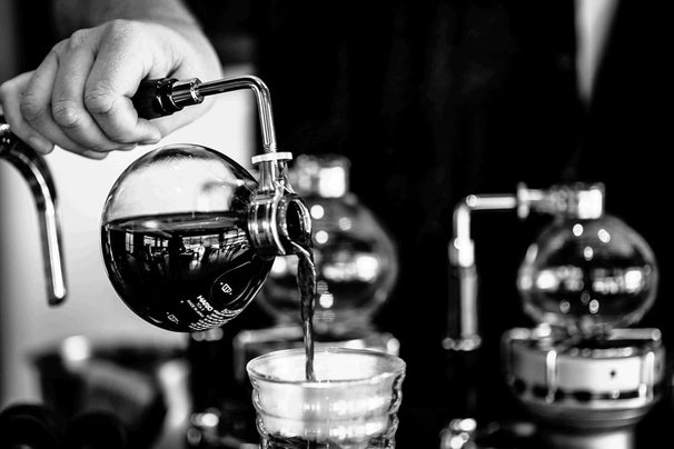 Coffee from Siphon.