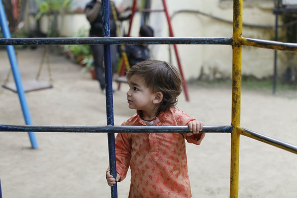 Playground time in India.