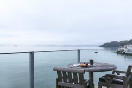 Inn Above Tide balcony, Sausalito
