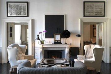JK Place Hotel fireplace