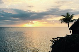 Sunset from Rockhouse Hotel in Negril, Jamaica.
