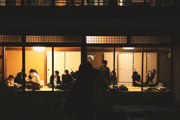 Inside Yojiya Cafe, Philosopher's Path, Kyoto.