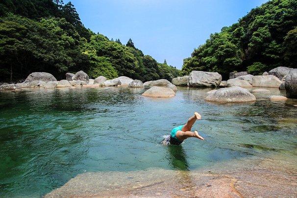 Yoggogawa freshwater pool, Yakushima, Japan