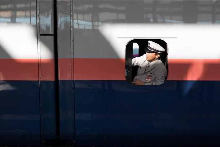 Bullet train, Japan.