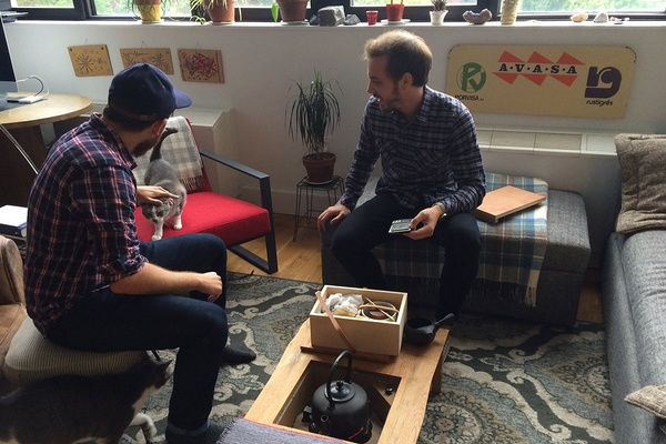 Private tea tasting with Zach Mangan and Daniel Schwartz