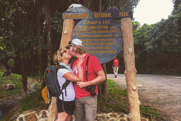Kissing on Mount Kilimanjaro