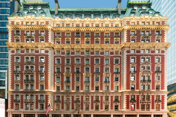 Facade of The Knickerbocker Hotel