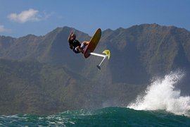 Laird Hamilton in the air.