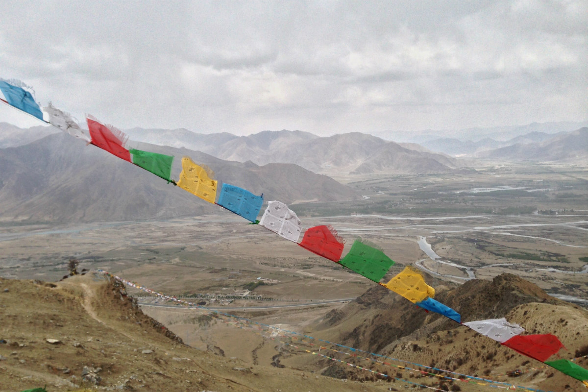 The view from Ganden Monastery, Lhasa, Tibet