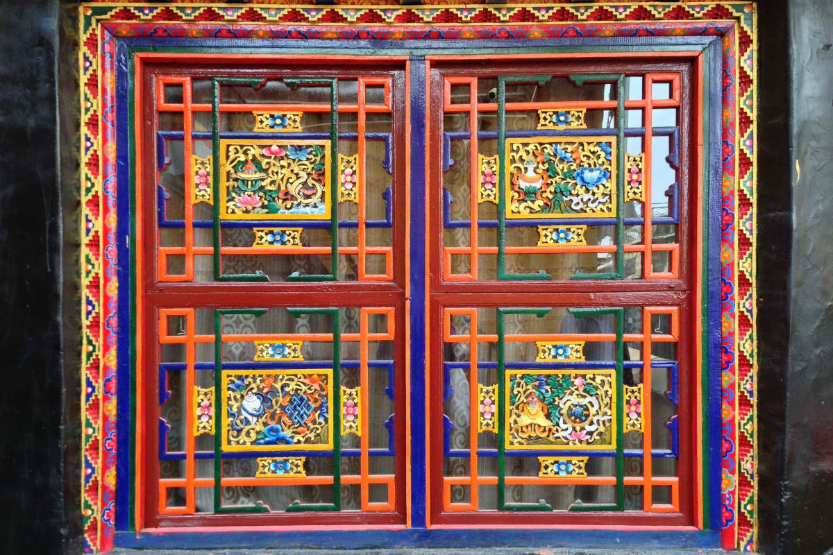 Tibetan window, Lhasa