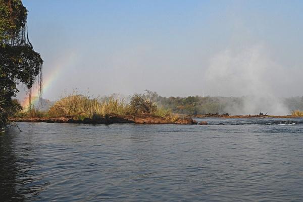 Livingstone Island, Zambia.