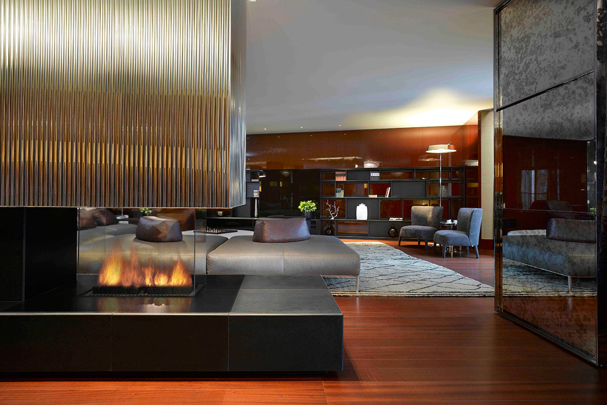 Living Room in Bulgari Suite I in Bulgari Hotel London