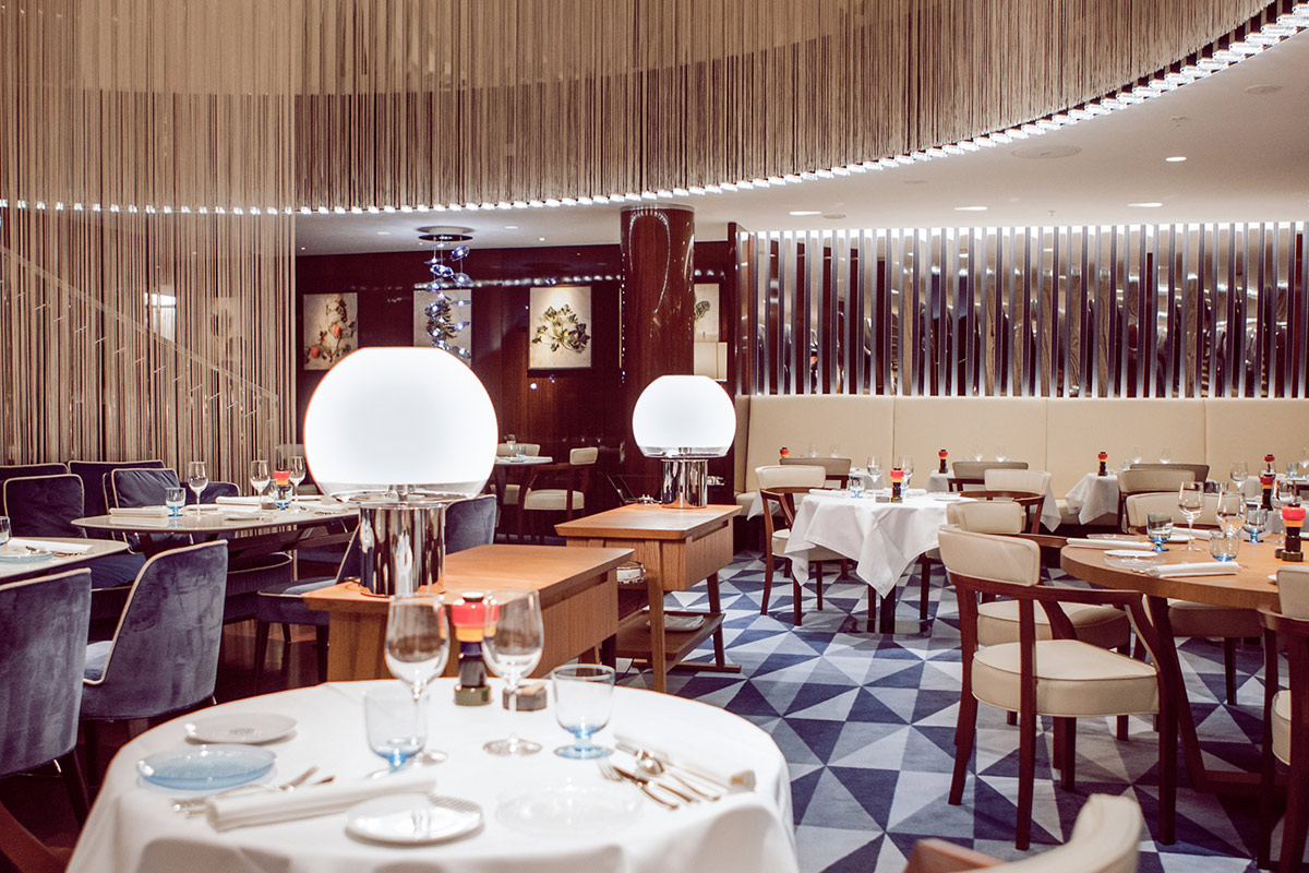 Rivea restaurant at Bulgari Hotel, London