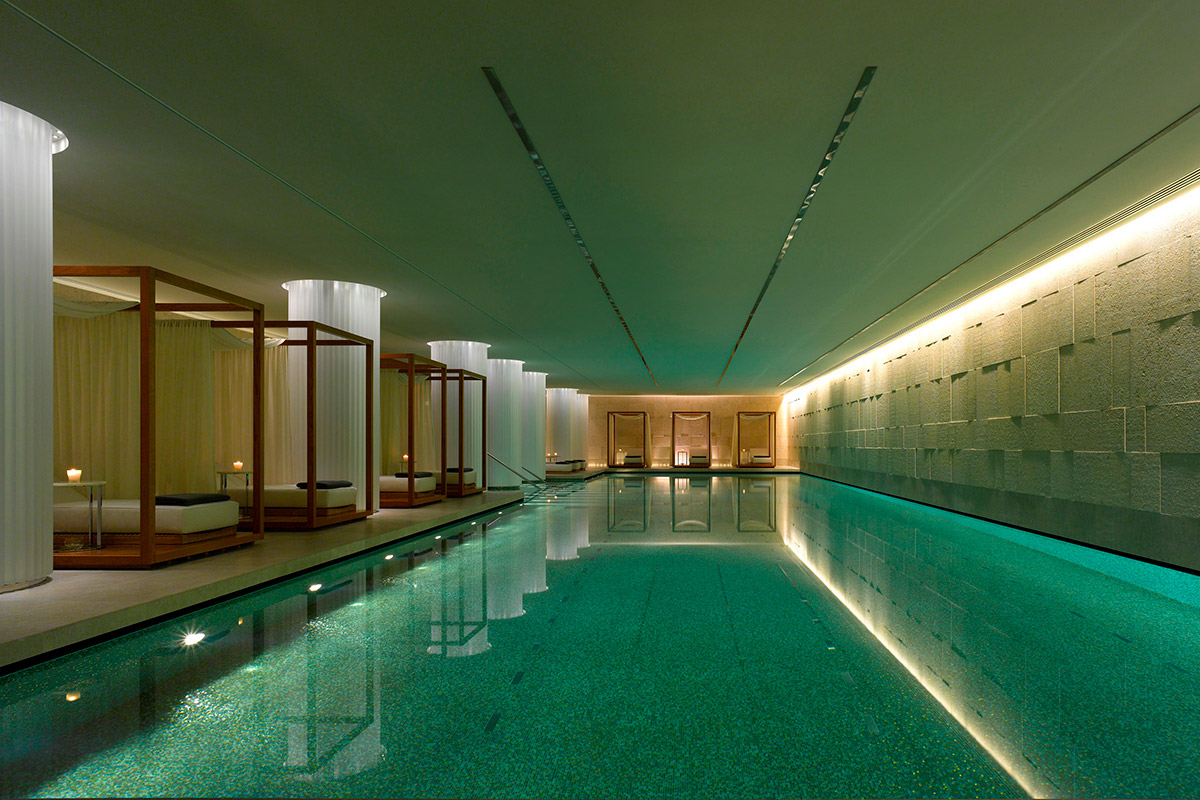 Spa pool at Bulgari Hotel London