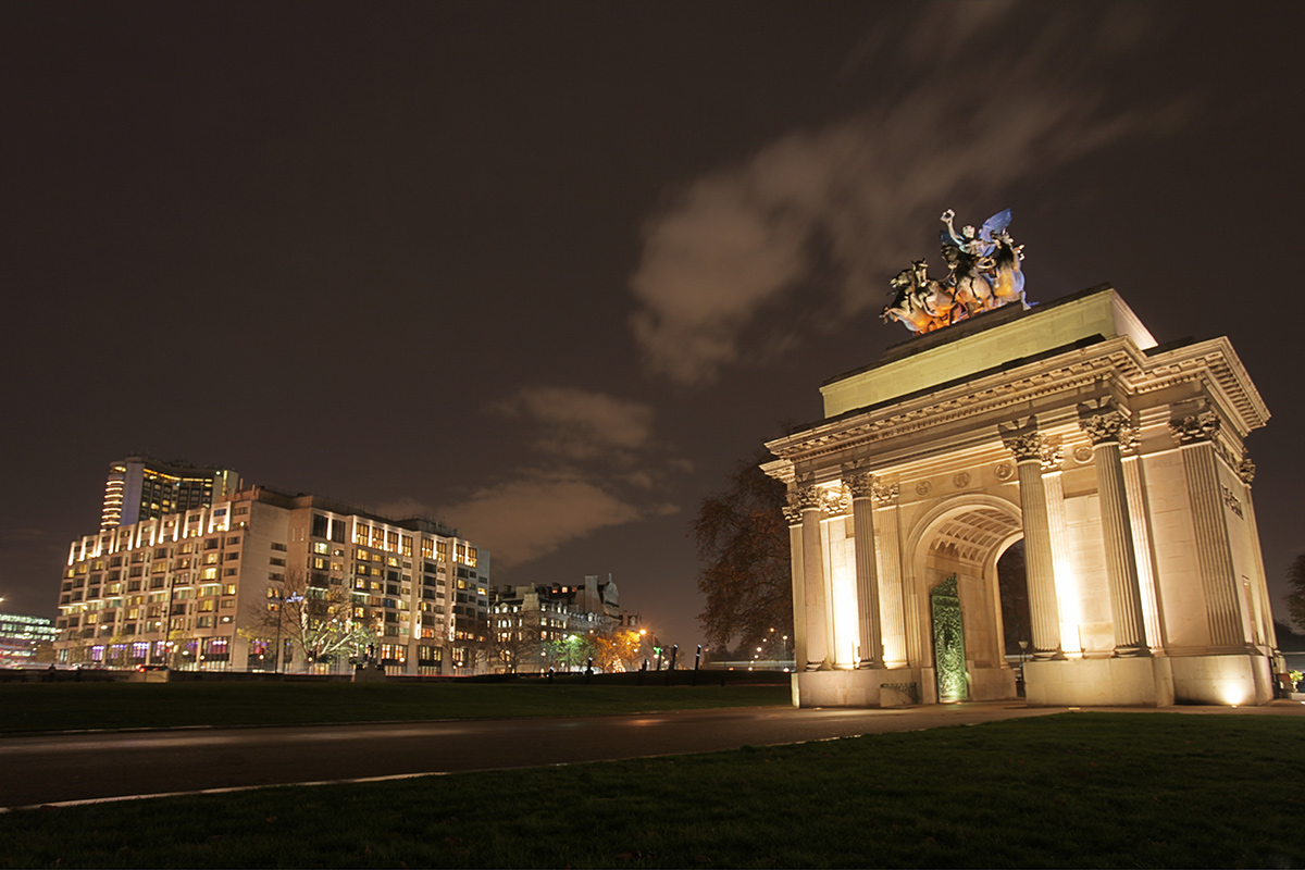 IC Park and Wellington Arch, London