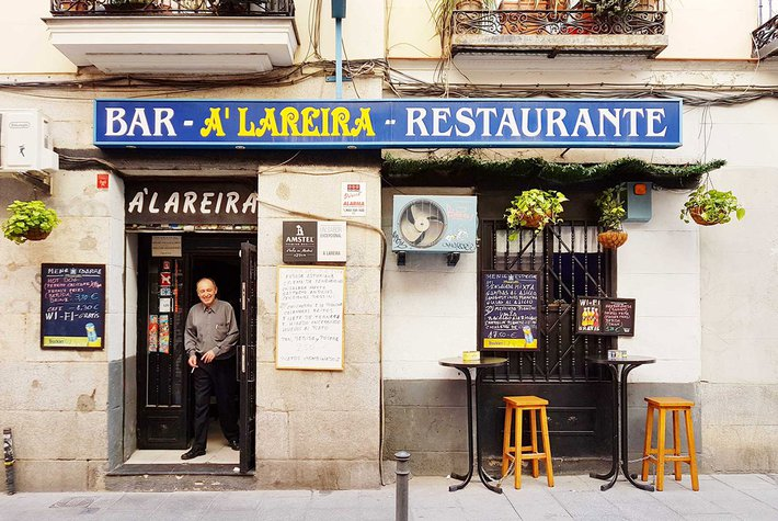 A Lareira bar in Madrid.