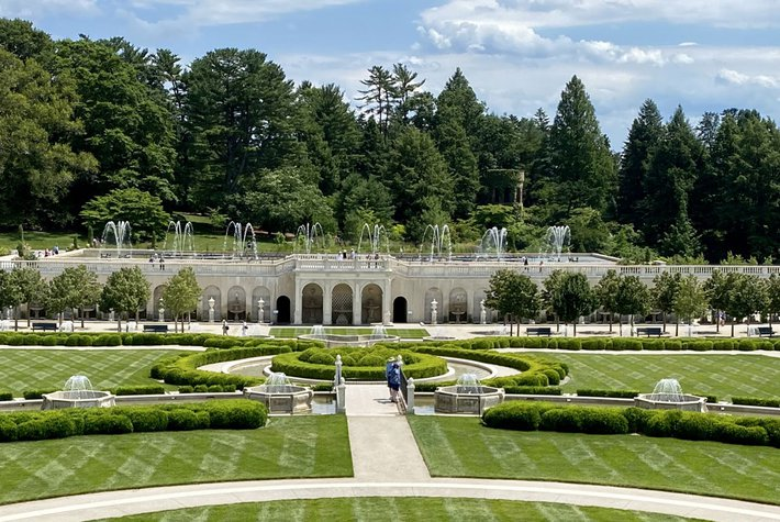 The Main Fountain Garden at Longwood Gardens.
