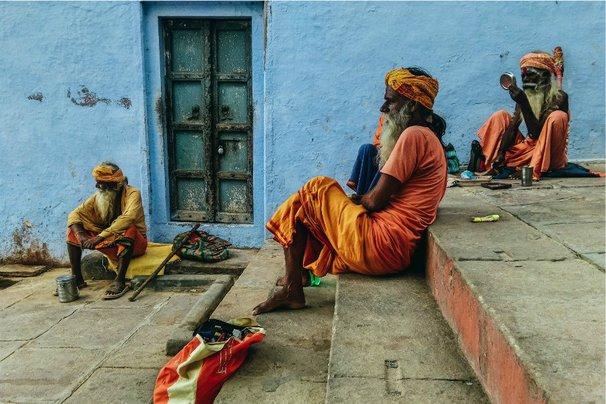 Sadhus chilling at the Ghat of Varanasi. All photos by Mehdi Hasan.