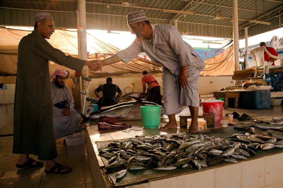 Local fish market in Muscat.