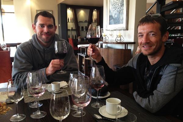 Drinking wine at Osadia de Crear