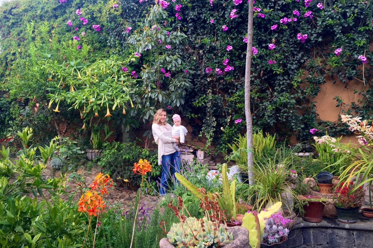 Secret Garden at Villa Victoria in Patzcuaro.