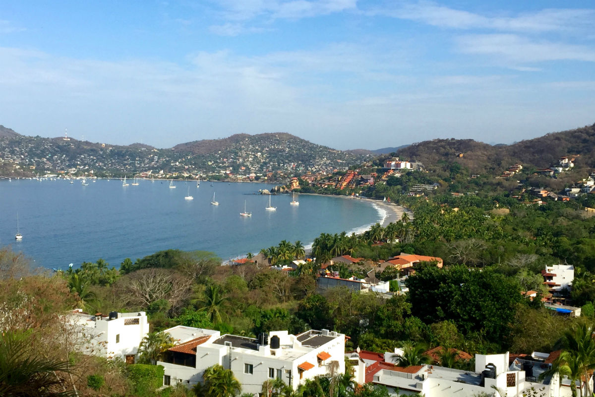 View of Zihuatanejo.