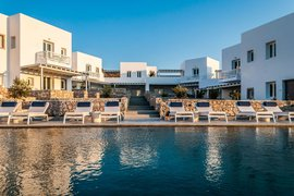 Beautiful view in Hotel Milos Breeze in Greece.