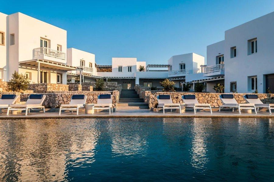 Beautiful view in Hotel Milos Breeze in Greece.