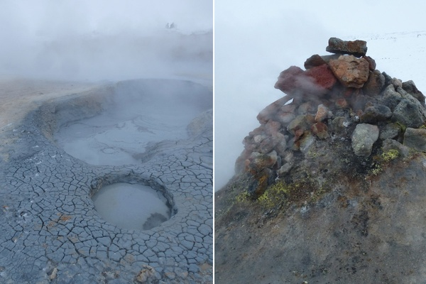 Hverir Mud pools and fumarole