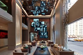Lobby of the Quin Hotel NYC.