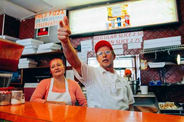 Phil's Pizza, West Village, Manhattan