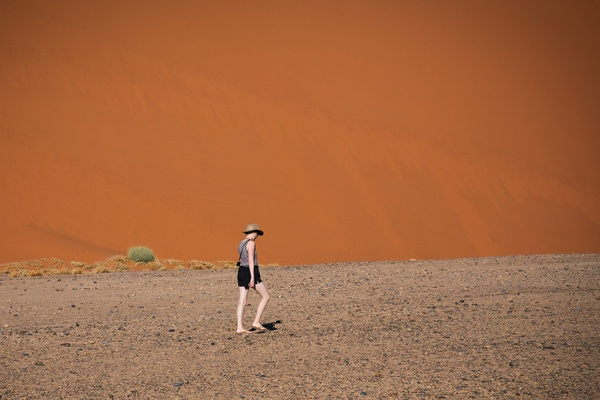 Walking in the Namib Desert