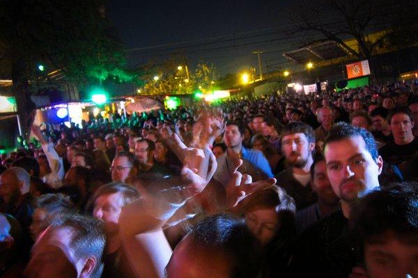 Crazy crowds at SXSW in Austin, Texas.
