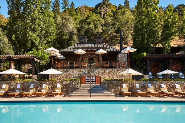 Pool Deck, Calistoga Ranch, Napa, California