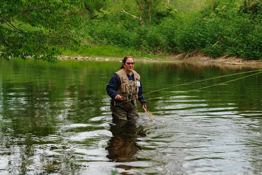 Fisherwoman, Willowemoc, New York