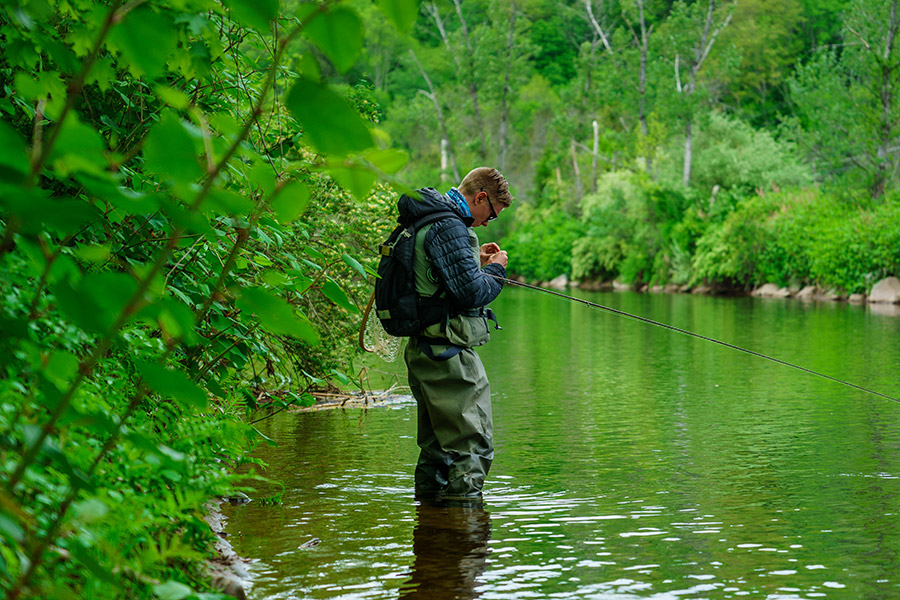 Young Fisherman, Wulff Run, Willowemoc, New York