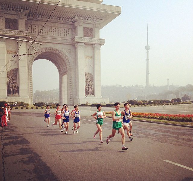 Pyongyang Marathon in North Korea
