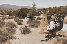PCT desert campsite