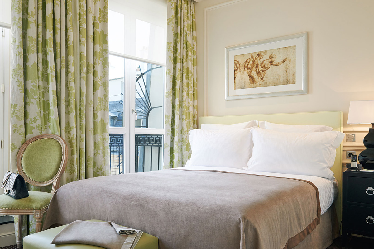Superior Room at Grand Hotel du Palais Royal, Paris, France.