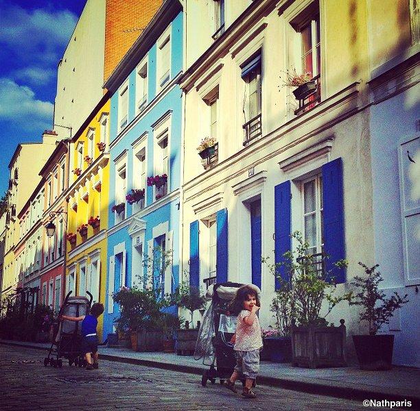 Polychromatic Parisian Street