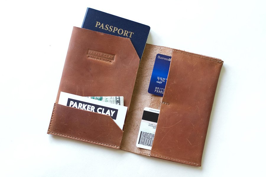 Parker Clay Passport Wallet
