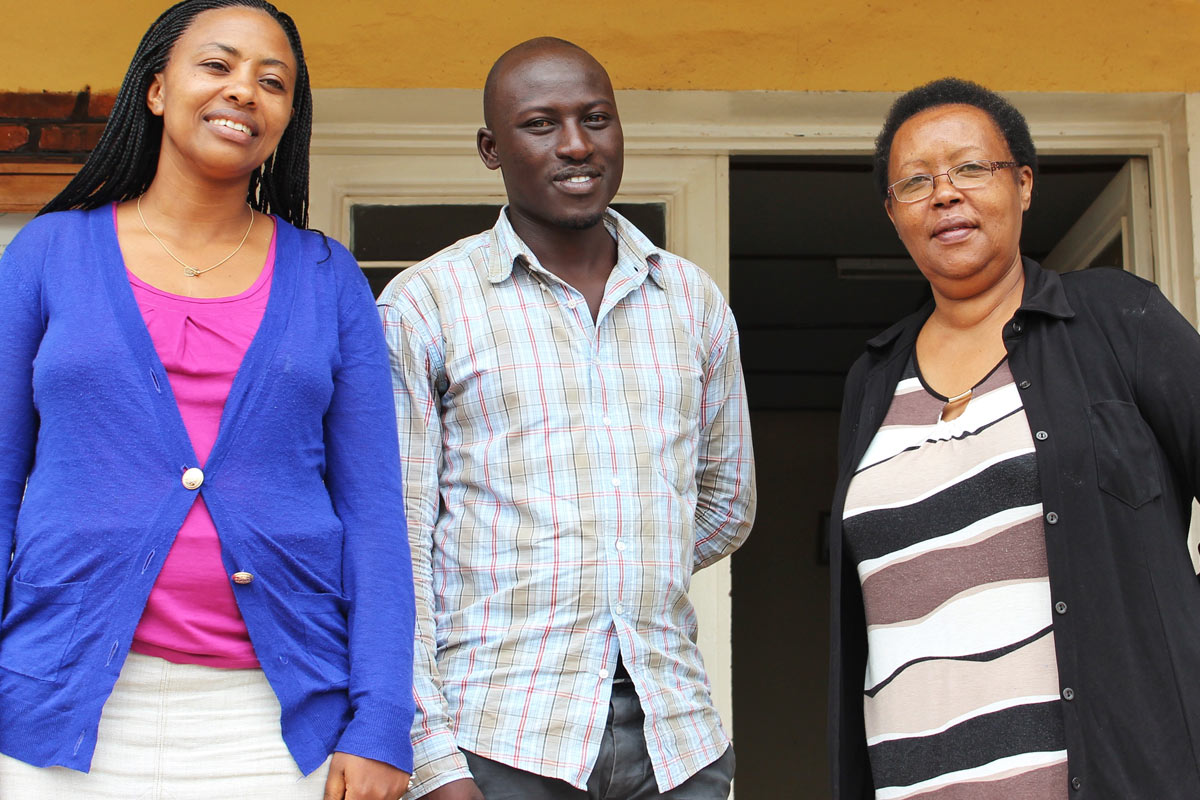 Peace and the other directors in Rwanda