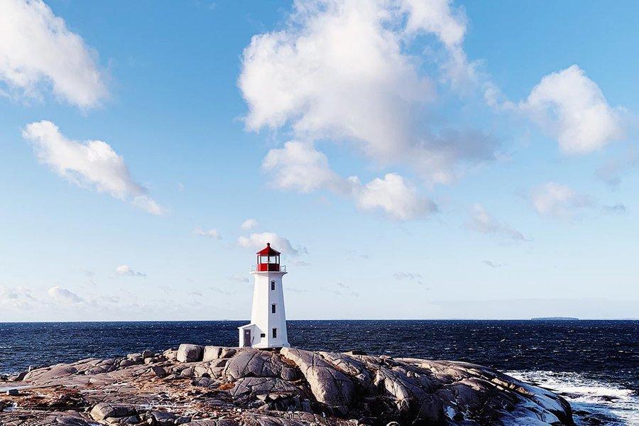 Lighthouse at Peggy's Cove, Nova Scotia. Photos by Tess Falotico.