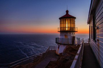 Traditional lighthouse at Point Reyes National Seashore.