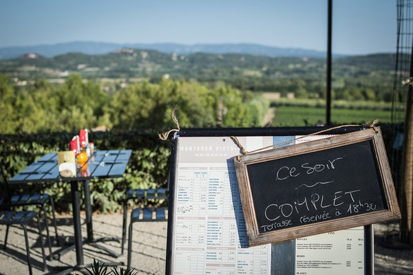 The view of Provence from Montaner Pietrini Boissons.