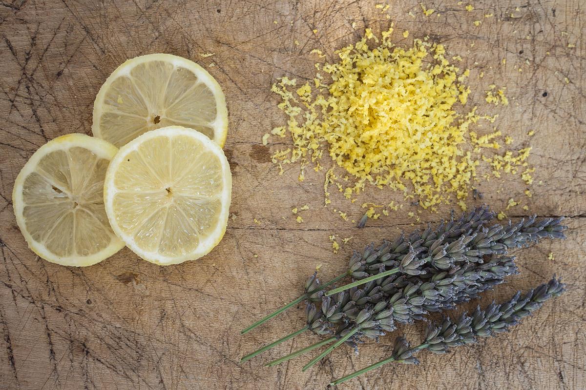 Ingredients for Lavender Lemon Shortbreads